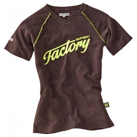 FOCUS Factory Spec Tee Men earthbrown melange/fluo yellow